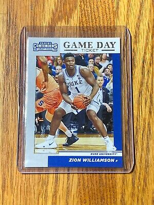 $9.99 • Buy ZION WILLIAMSON - 2019 NBA Panini Contenders Draft Picks Game Day Ticket #1 🔥