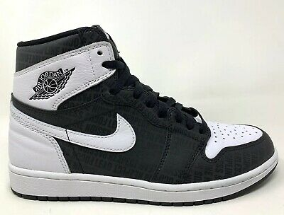 "$240 • Buy 2017 Air Jordan 1 OG High ""Re2pect"" Size 10 BLACK WHITE JETER 555088 008"
