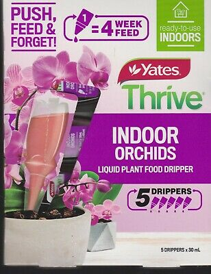 AU24.95 • Buy Yates Thrive - INDOOR ORCHIDS- Liquid Plant Food Dripper - 5 Drippers X 30mL