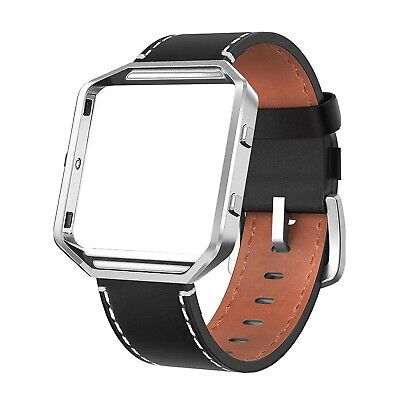 $ CDN12.09 • Buy Fitbit Blaze Band - Black Leather With Gray Casing