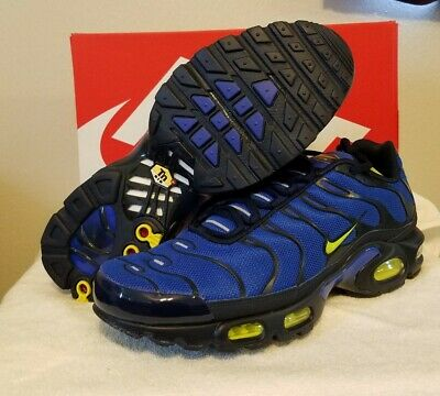 $134.95 • Buy **RARE/NEW** Nike Air Max Plus Size 11  852630-412  Blue/Volt Sneakers*Obsidian*