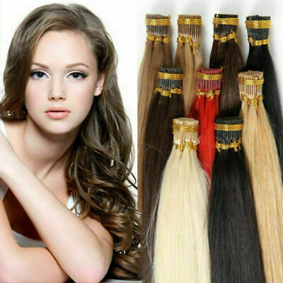 $37.58 • Buy US STOCK 20''24'' Pre Bonded Keratin Tip I Stick 1g Remy Human Hair Extensions