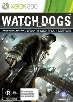 AU12.95 • Buy Watch Dogs Xbox 360 Aus Game