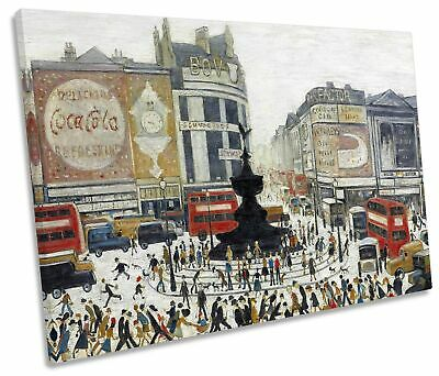 L.S Lowry Piccadilly Circus CANVAS WALL ART Picture Print • 23.99£