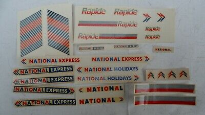 National Express & Holidays, Rapide Coach Transfers. Mabex Waterslide Decals. • 6£