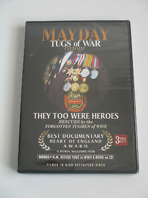 New & Sealed Dvd - Mayday Tugs Of War Europe - World War Two - Tugmen - Sailors • 4.99£