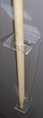 £9.99 • Buy Clear Acrylic Vertical Wall Mount For Signed Drum Stick Drumstick Drummer