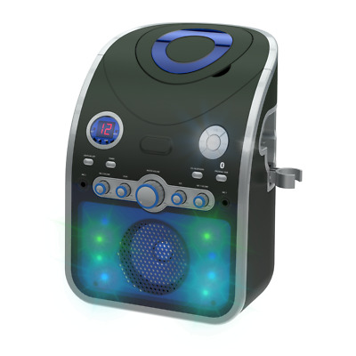 Bluetooth Karaoke Machine With Party Lights & 240 CDG HITS SONGS & 2 MICS • 89.99£