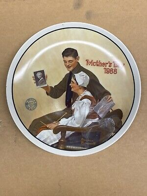$ CDN10 • Buy Norman Rockwell Collector Plate MOTHERS DAY 1988 Edwin Knowles Fine Rare