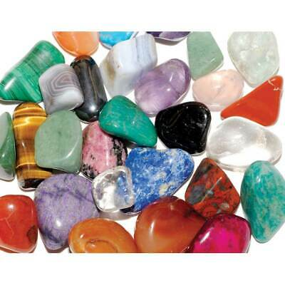 20 Mixed Best Mix Healing Crystals Tumble Stones 17-28m Chakra Gemstone 28p Each • 5.85£