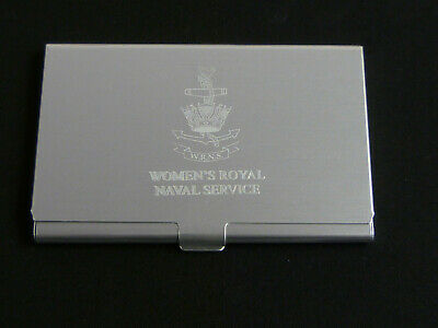 WRNS Womens Royal Naval Service Engraved Business / Credit Card Holder  • 6.99£