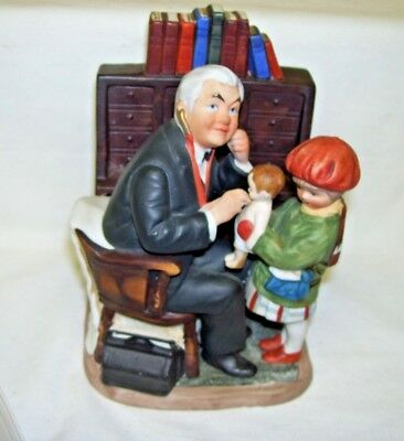 $49.99 • Buy Saturday Evening Post Norman Rockwell Doctor And Doll Figurine 1973 Grossman