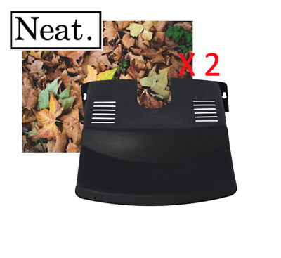2 X Drain Leaf Guard - Cover - Tidy -  Black Plastic - Barrier - Protector  • 5.99£