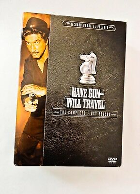 $8.95 • Buy HAVE GUN WILL TRAVEL  First Season DVD 2004 INCLUDES 5 DISCS