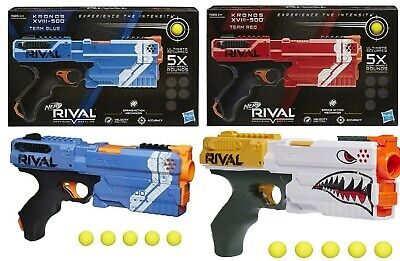 AU99 • Buy NERF Rival Kronos XVIII-500 Blue Red Blaster Ages 14+ Toy Gun Fire Play Fight