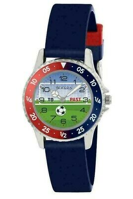 Tikkers Children's Blue Silicone Strap Easy Read Dial Analogue Watch Football • 6.99£