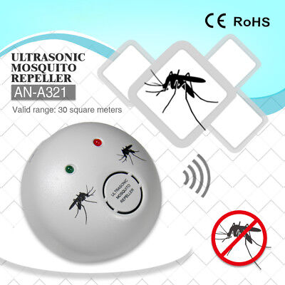 Ultrasonic Plug In Mosquito Midge Chemical Free Repellent Detterent EU 2 Pin • 8.95£