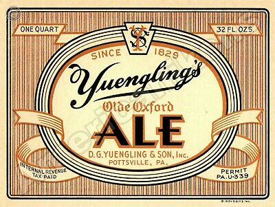 $16.88 • Buy Yuengling's Old Oxford Ale NEW Metal Sign: D.G. Yuengling & Sons, Pottsville, PA