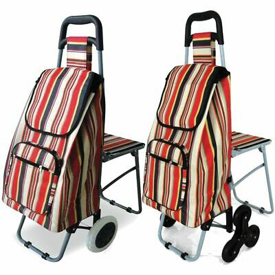 £59.95 • Buy Best Shopping Trolley With Fold Down Take A Seat, Mobility Leisure, Walking Aid