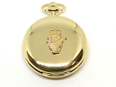 Ulster Defence Regiment UDR Gold Plated Deluxe Pocket Watch & Keeper Chain • 14.99£