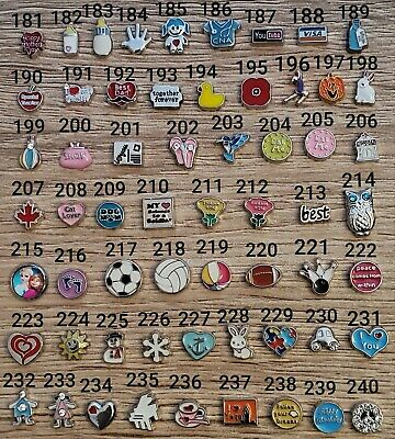 No 181- 240 Floating Charms For Memory Locket • 0.99£
