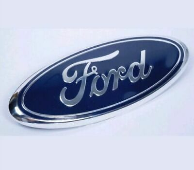 $24.95 • Buy BLUE & CHROME 2005-2014 Ford F150 FRONT GRILLE/ TAILGATE 9 Inch Oval Emblem 1PCS