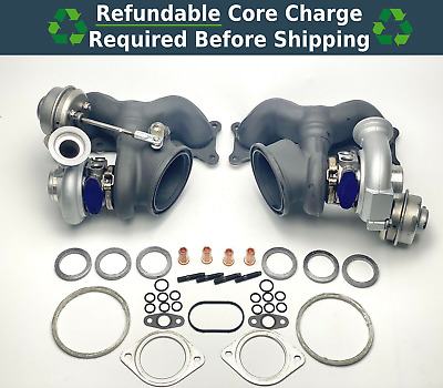 $ CDN811.25 • Buy OEM N54 335i 335is 335xi Front And Rear Turbo Chargers W/ Gasket Kit 11657649290