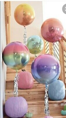Various Orbz Rainbow Balloon Pastel Gold Animal Print Party Wedding Baby Shower • 3.79£