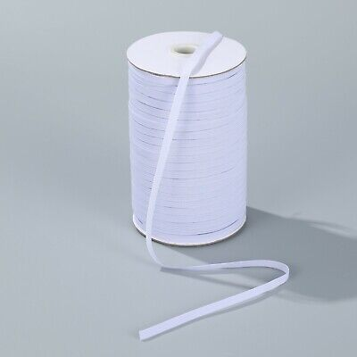 "$ CDN39.89 • Buy 180 Yards Elastic 1/4"" 6 Mm White For Headband Clothing Wholesale Bulk Roll"