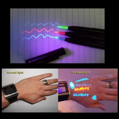 £3.99 • Buy Temporary Tattoo Uv Invisible Body Ink Pro Pen RED