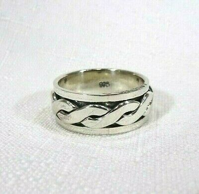 Men's Solid Sterling Silver Spin Spinner Ring- Size 9.75 • 29.87£
