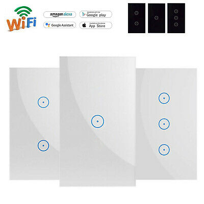 AU26.99 • Buy DIERYA Smart WIFI Light Touch Panel Switch Socket App Timing  Alexa Google Home