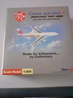$37.99 • Buy Star Jets 1/500 China AIrlines B747-400  Millenium 2000  Livery Diecast Model