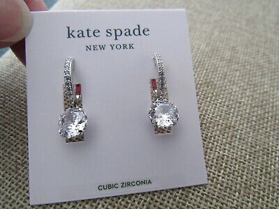 $ CDN29.31 • Buy Kate Spade That Sparkle Silver And Clear Cubic Zirconia Pierced Earrings