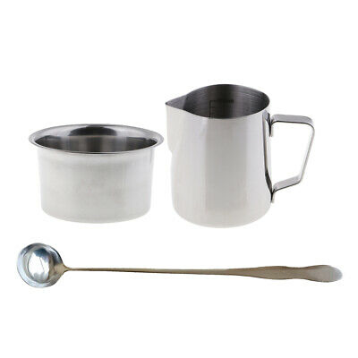 3 Set Candle Making Pot Pitcher Double Boiler For Melting Wax & Soap W/ Spoon • 10.34£