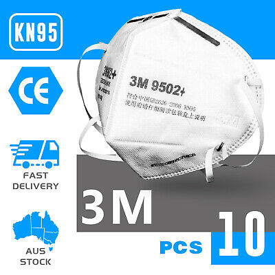 AU96 • Buy 10PCS KN95 3M 9502+ Face Mask Anti Dust Flu Protection Respirator Mask AU STOCK