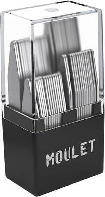 $16.99 • Buy 56 Metal Collar Stays For Men In A Divided Box - 4 Sizes By Moulet