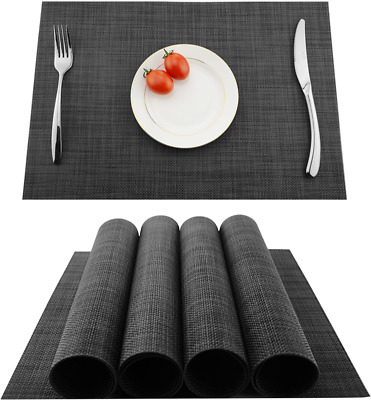 AU21.37 • Buy KOKAKO Placemats Washable Dining Table Place Mats PVC Kitchen Table Mats,Set Of