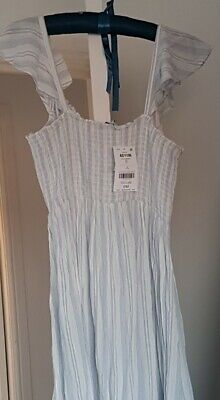 £30 • Buy CLEARANCE SALE , Lovely Long White & Blue Dress By Next UK 12
