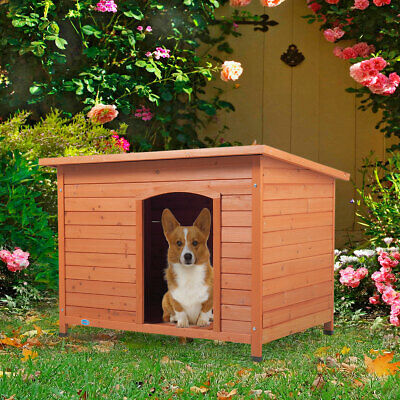 $91.99 • Buy 41  Wood Waterproof Slant-Roofed Large Dog House Pet Cage Kennel Cabin Outdoor