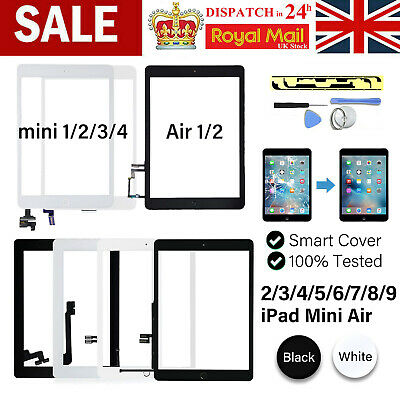 £10.99 • Buy For IPad Mini 1/2/3/4 5/6/7 Air 1/2 Screen Replacement Glass Touch Digitizer +IC