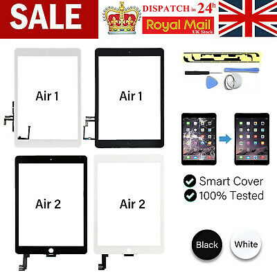 £10.99 • Buy For IPad Air 1/2 Screen Replacement Front Glass Touch Digitizer+Genuine IC+Tools
