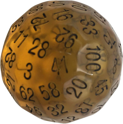 AU25.84 • Buy Skull Splitter Dice Single 100 Sided Polyhedral Dice (D100) | Translucent Amber