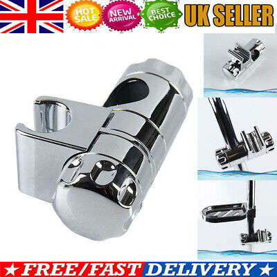 Adjustable Chrome Bathroom Shower Head Holder Mount Riser Rail Bracket Slider • 5.88£