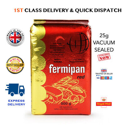 FERMIPAN Red Instant Dried Yeast 10g 25g 500g Bread Baking Vegan 1st Class P&P • 10.99£