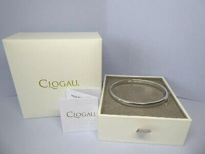 Clogau Gold, Silver & Rose Gold Cariad Heart Bangle RRP £219 • 75£