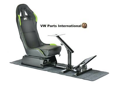 Car Gaming Racing Simulator Frame Chair Bucket Seat Frame Black Green PS5 Xbox • 269.99£