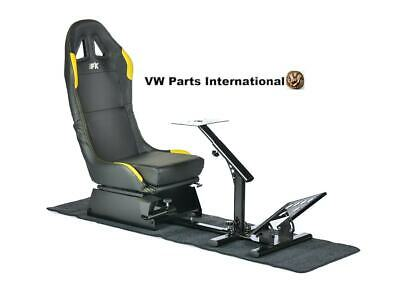 Car Gaming Racing Simulator Frame Chair Bucket Seat Frame Black Yellow PS5 Xbox • 259.99£