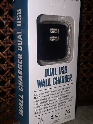 $ CDN9.10 • Buy New Black Dual USB 2.4 Amp Wall Charger In The Original Retail Packaging.