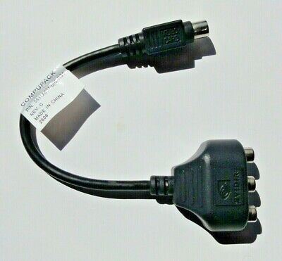UK NVidia CompuPack 5511A001-002-RS1 7 Pin S-Video HDTV Video Adapter E3 • 6.25£